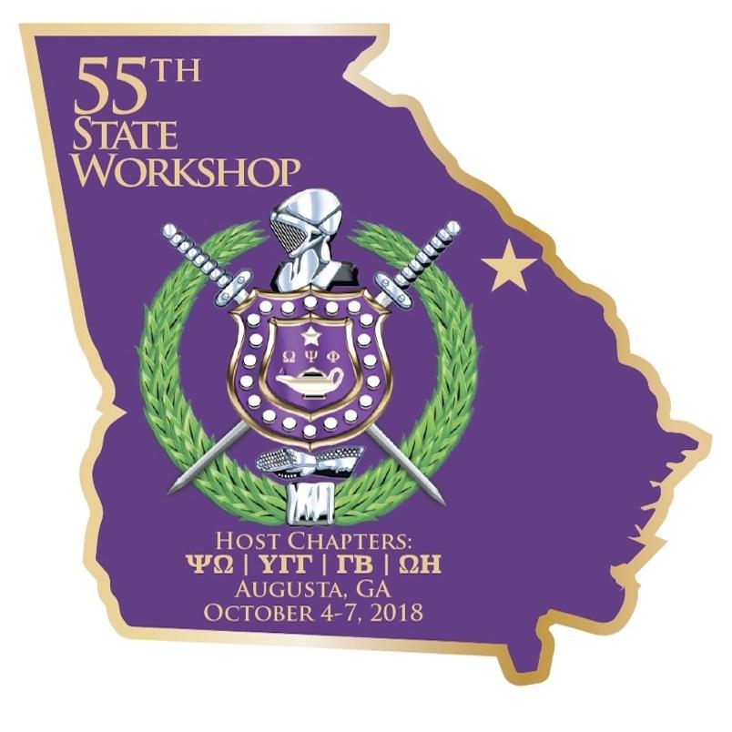 55th Omega Psi Phi Georgia State Meeting logo