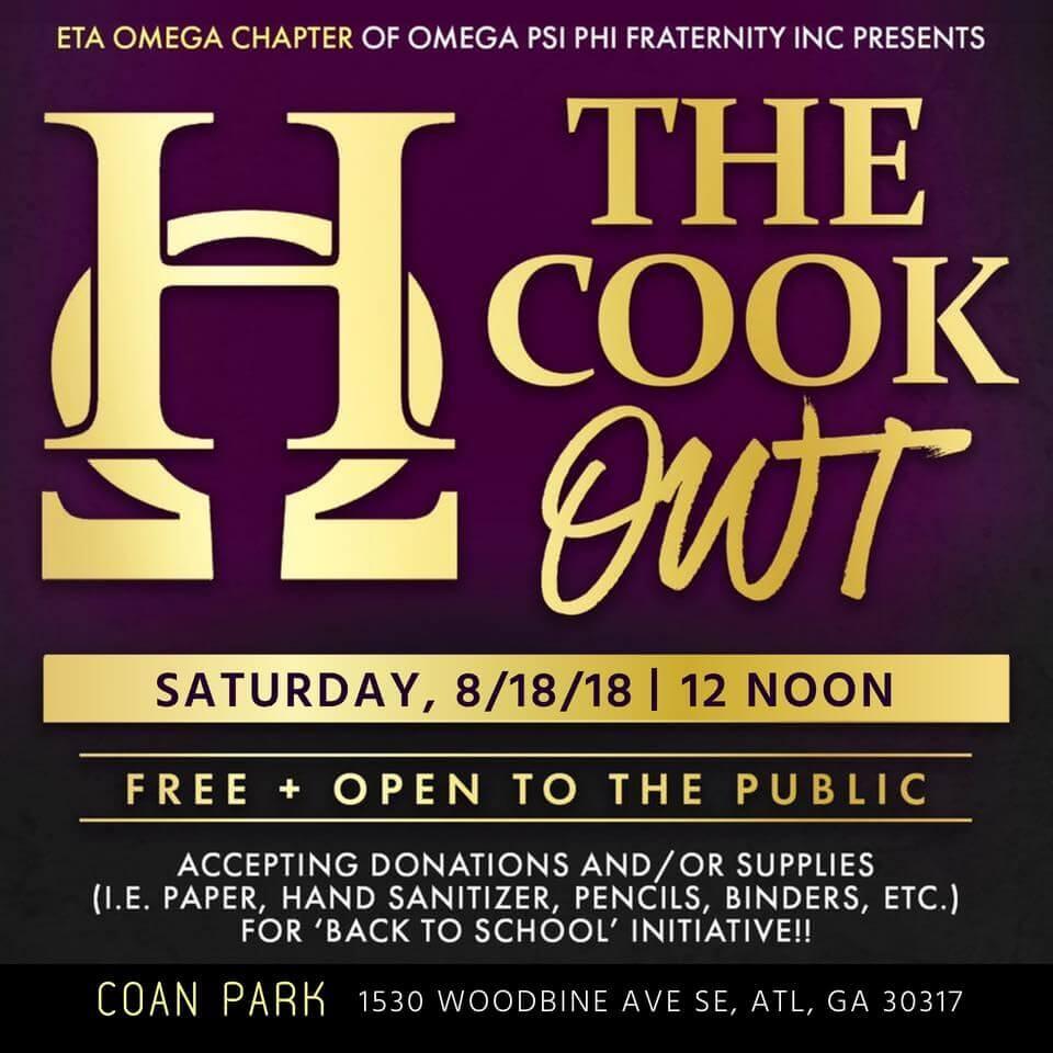 Eta Omega Cookout flyer