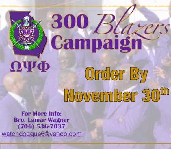 Order Your Omega Psi Blazer Today!
