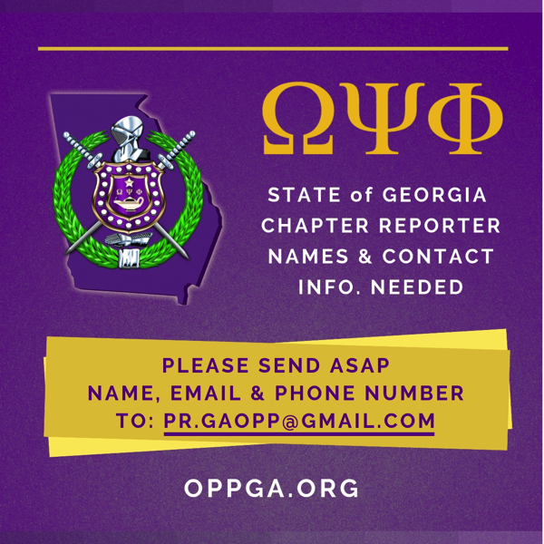 Calling All GA Chapter Reporters