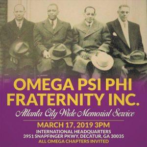 Omega Psi Phi 2019 Atlanta Metro Memorial Service