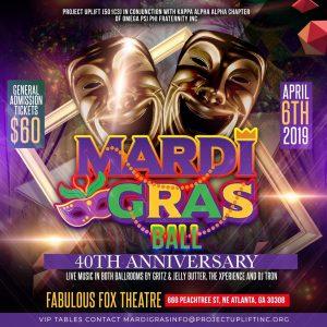 KAA Omega Psi Phi Mardi Gras Ball flyer