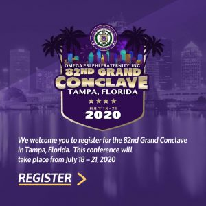 82nd Omega Psi Phi Grand Conclave 2020 Tampa flyer