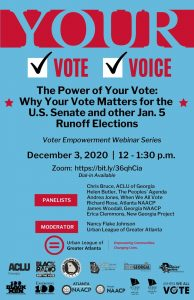Flyer - The Power of Your Vote Webinar Georgia Runoff