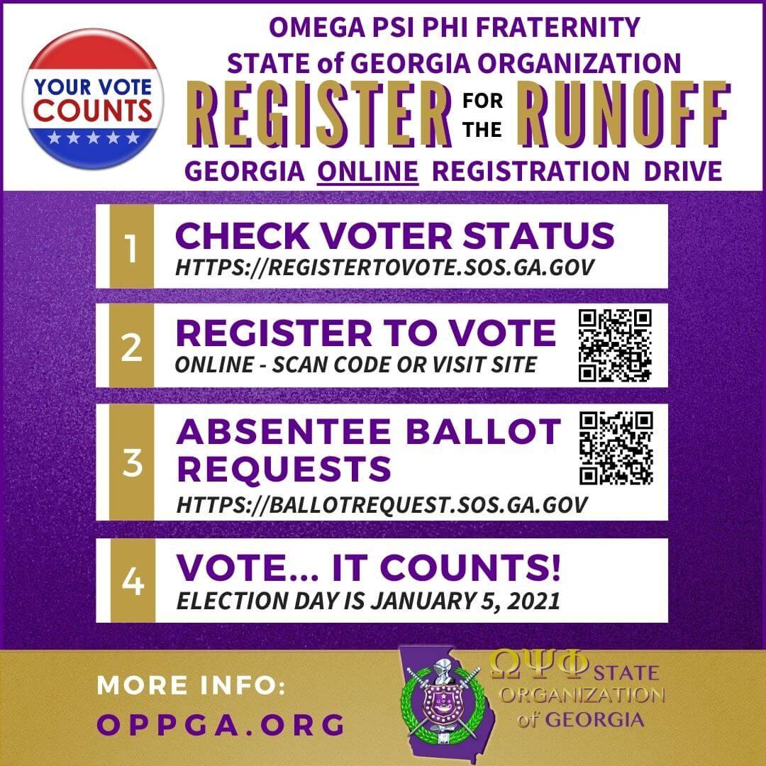 flyer - Omega Psi Phi Register for the 2021 Georgia runoffs