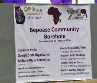 Georgia Omegas Donate Water Borehole in Ghana