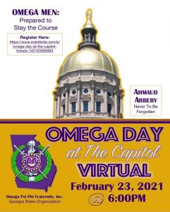 2021 Omega Psi Phi Day at the Georgia Capitol
