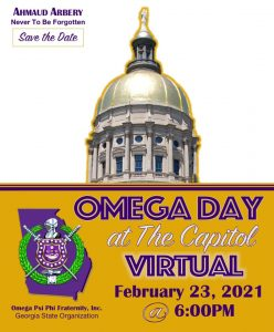 Save the Date - 2021 Omega Day at the Georgia Capitol