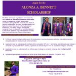Omega Psi Phi State of Georgia Alonza A. Bennett Scholarship flyer